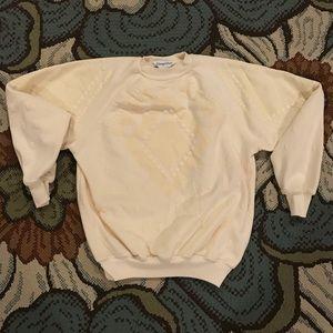 Tops - Vintage Pale Yellow Sweater- sz XS-XXS